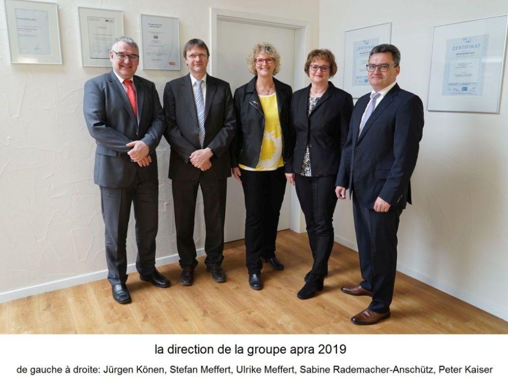 Geschäftsführung der apra-gruppe 2019